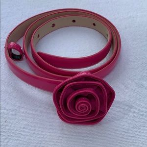 Talbots Rose Patent Belt w/ Leather Lining XS EUC